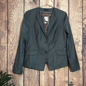 Gap Blazer Jacket 12 Gray Two Button NWT